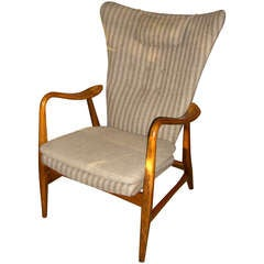Danish Modern Wingback Armchair by Bovenkamp