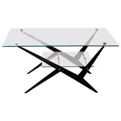 1950's 2 Tier Sofa Table by Italian Designer Angelo Ostuni