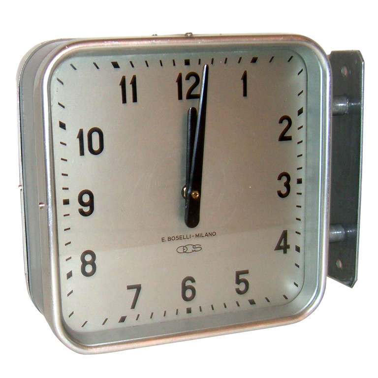 gio pontiu0027s per industrial double sided wall clock 1