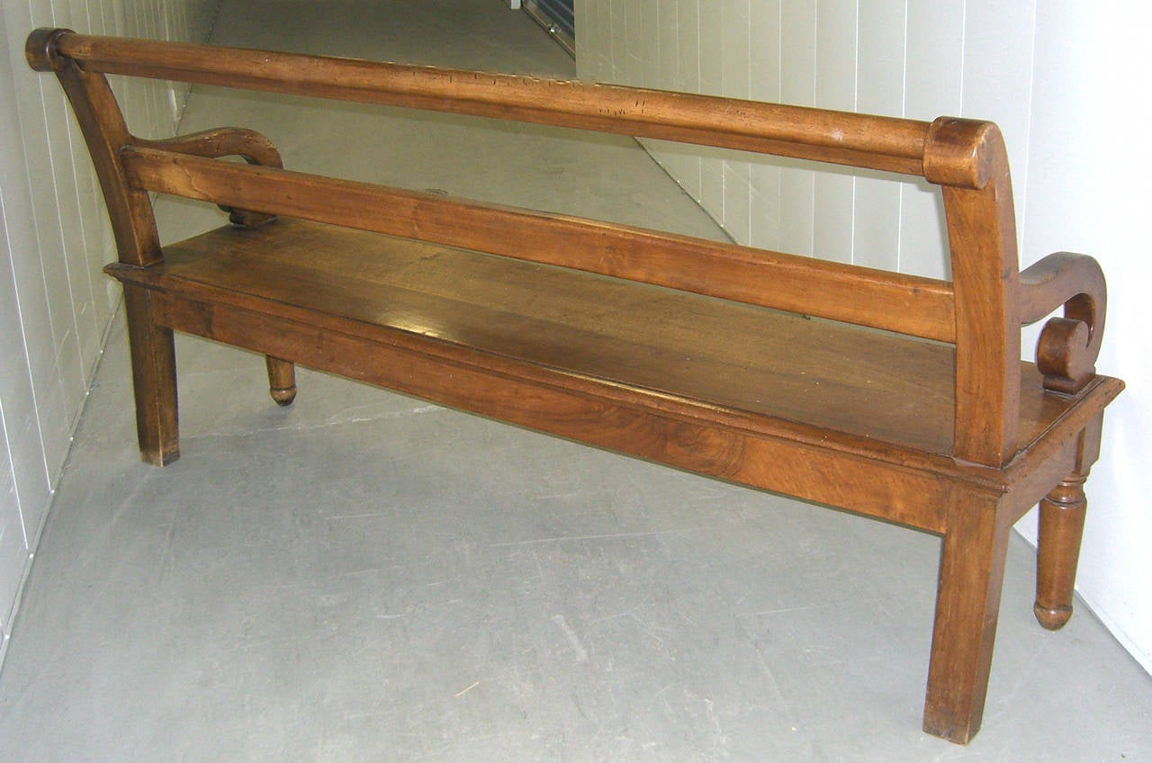 French country garden bench - Antique French Country Wood Bench 2