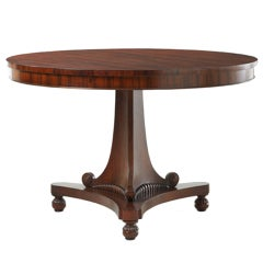A Hand Carved Rosewood Pedestal Table