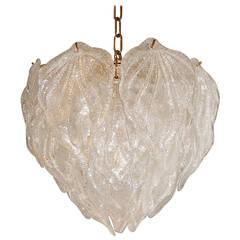 Glittering Glass Leaf Chandelier