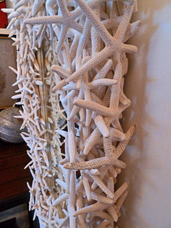 Dramatic Artisan Crafted Starfish Framed Mirror 4