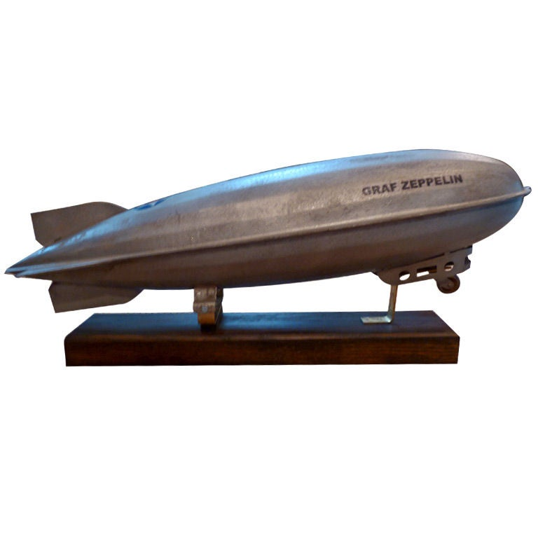 Mounted 1930's Steelcraft Graf Zeppelin Pull Toy