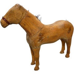 Early 19th Century Belgian Hand Carved Child's Horse