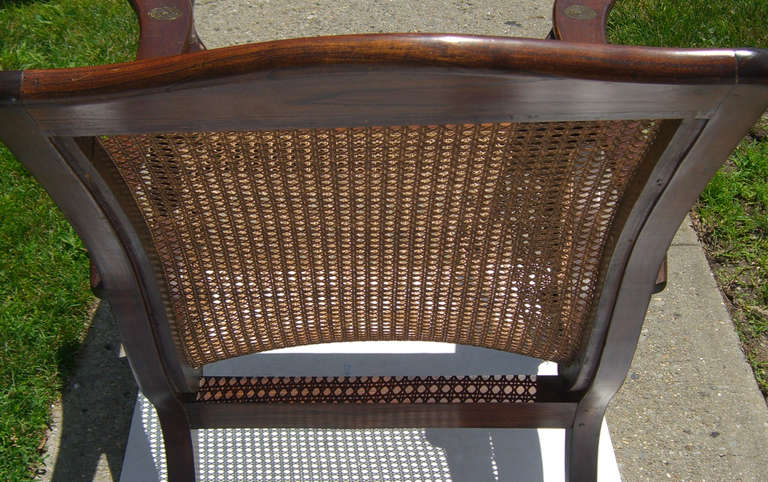 British Colonial Caned Seat Planter S Chairs At 1stdibs