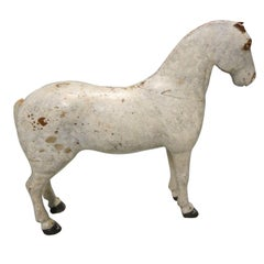 Hand Crafted Belgian Wood Child.s Horse Figure