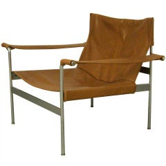 Leather & Chrome Lounge Chair designed by Hans Könecke for Tecta