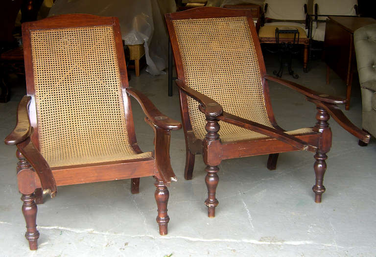 Bon Anglo Indian A Pair Of Rare U0026 Exquisite British Colonial Planteru0027s Chairs  ...
