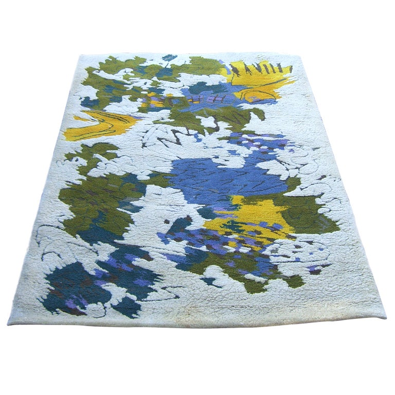 1968 Edward Fields Abstract Design Wool Area Rug At 1stdibs