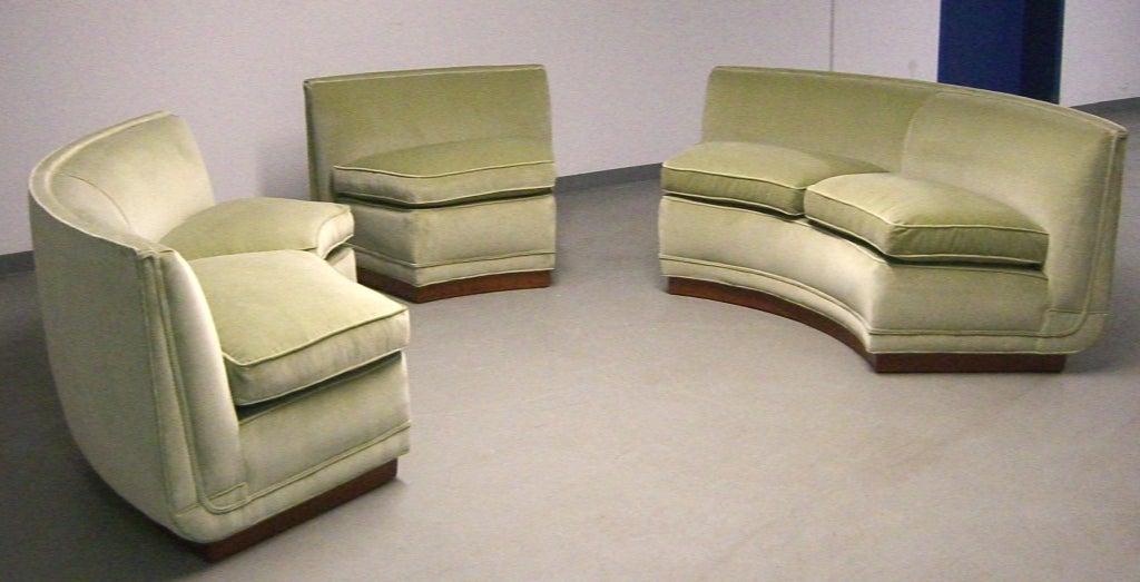 1950's Custom Designed Edward Wormley Sectional Sofa image 2