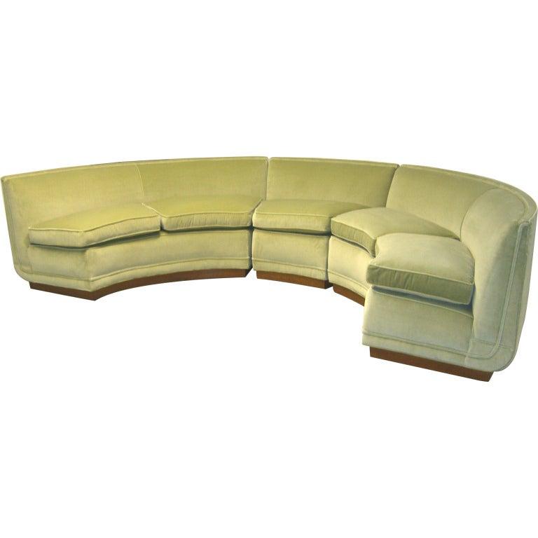 1950's Custom Designed Edward Wormley Sectional Sofa