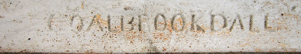 "Rare Coalbrookdale ""Nasturtium"" Pattern Cast Iron Garden Bench image 5"