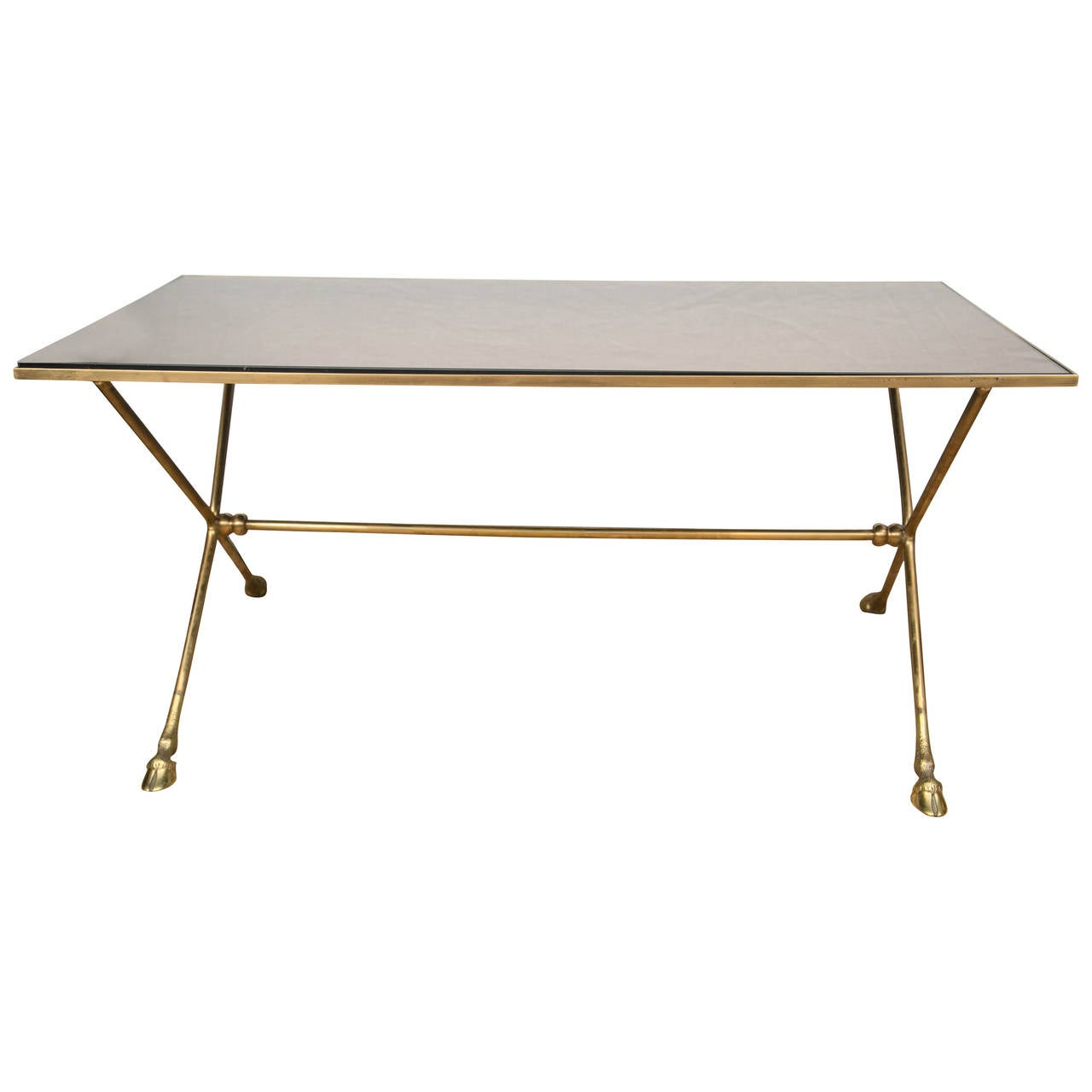 French 1950s Brass Cocktail Table in the Manner of Maison Jansen
