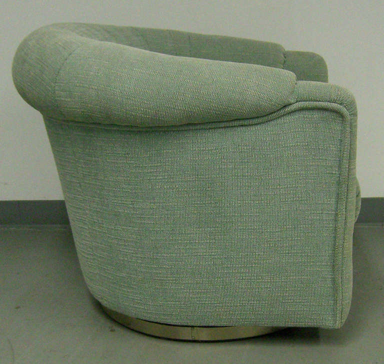 Cool and Comfortable, 70's Era Swivel Club Chair For Sale ...