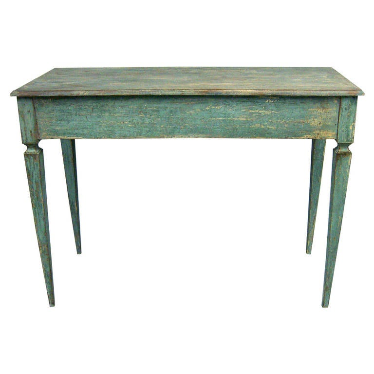 Italian tall painted wood console or serving table for for Tall console table