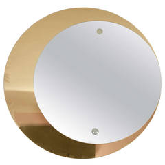 1960s Double-Circular Mirror by Crystal Arte