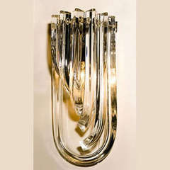 Art deco curve wall light