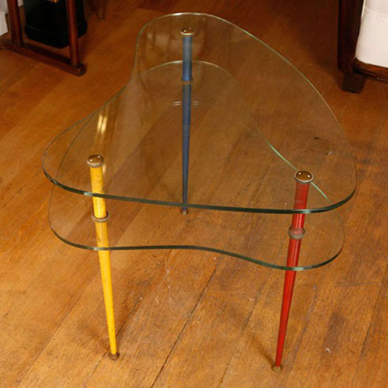 1950's italian tripod side table 3