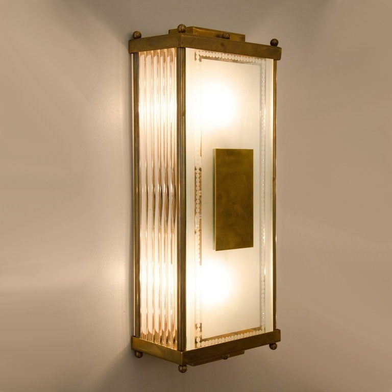 Wall Light Switch Remote Control : 1940s Italian Rectangular Wall Lights at 1stdibs