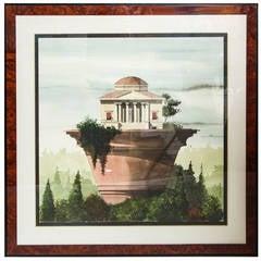 Surreal Architectural Watercolor