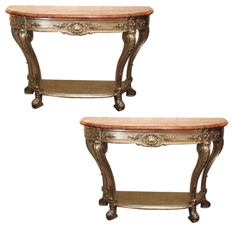 an important pair of antiques georgian style carved. Black Bedroom Furniture Sets. Home Design Ideas