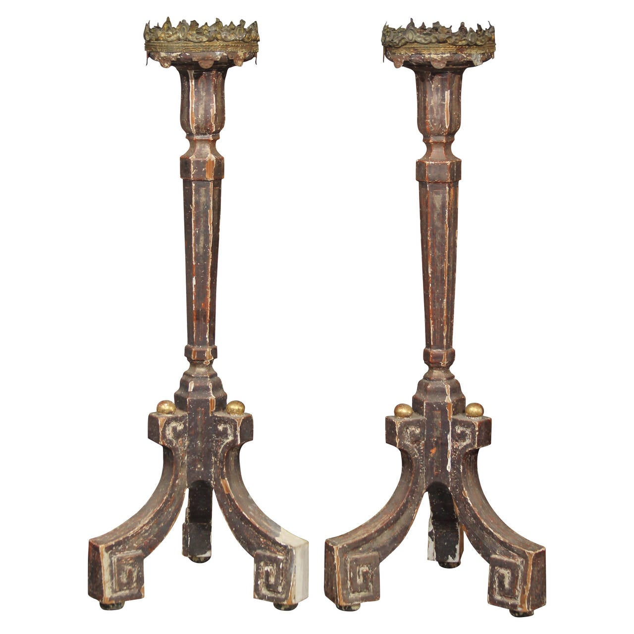 Pair of Candle Stands For Sale