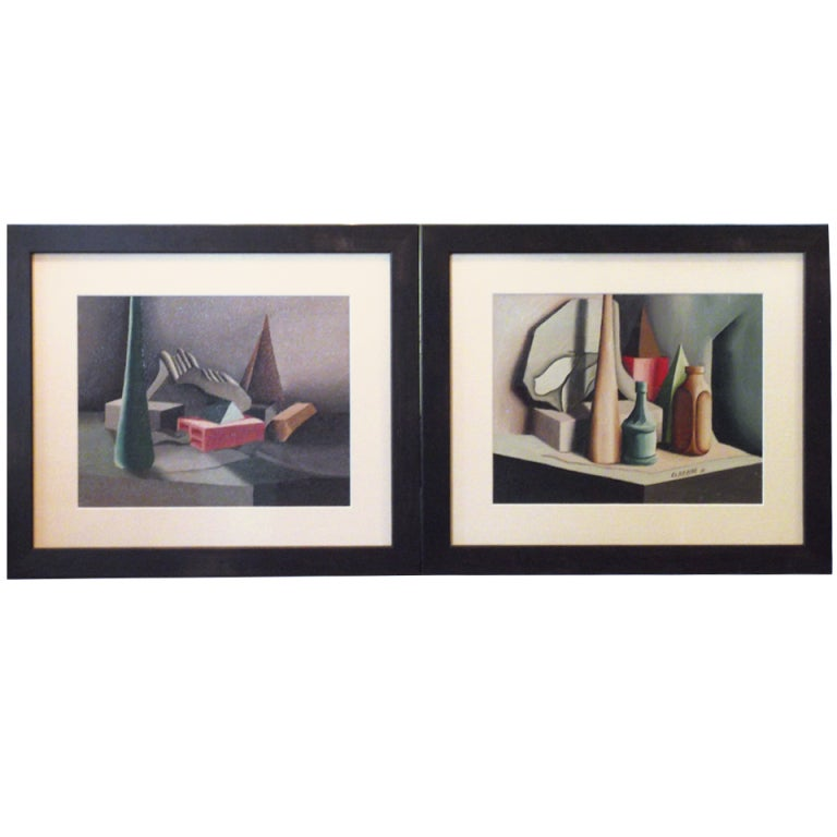 Pair Of Cubist Oil Painting At 1stdibs