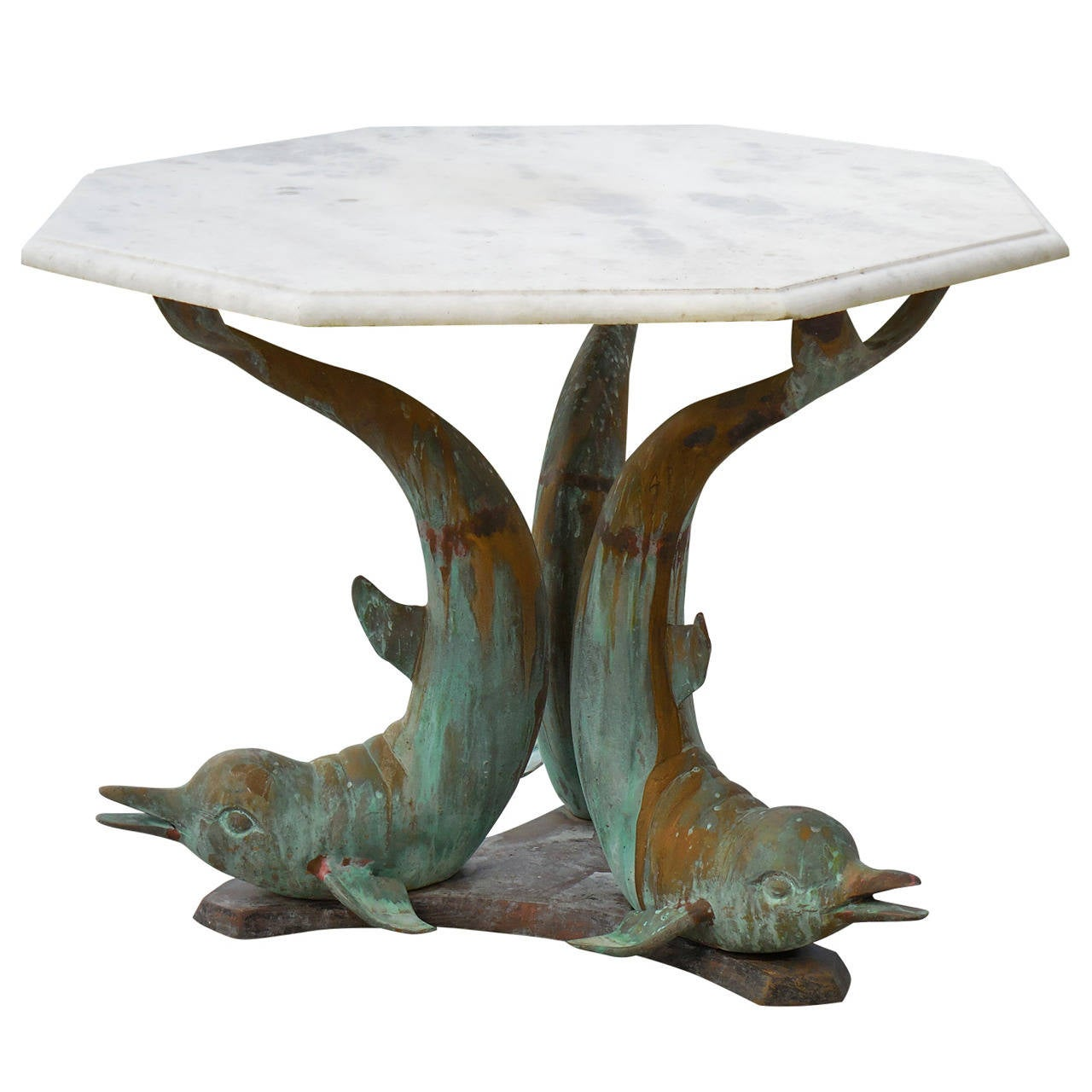 Brass Dolphin Sculpture Coffee Table At 1stdibs