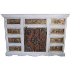 Indian Primitive Wood Cabinet
