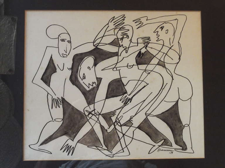Pair Of Original Drawing At 1stdibs
