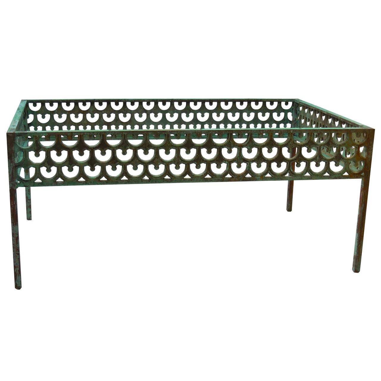 Architectural bronze coffee table at 1stdibs for Architectural coffee table