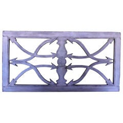 Architectural Carved Wood Wall Hanging
