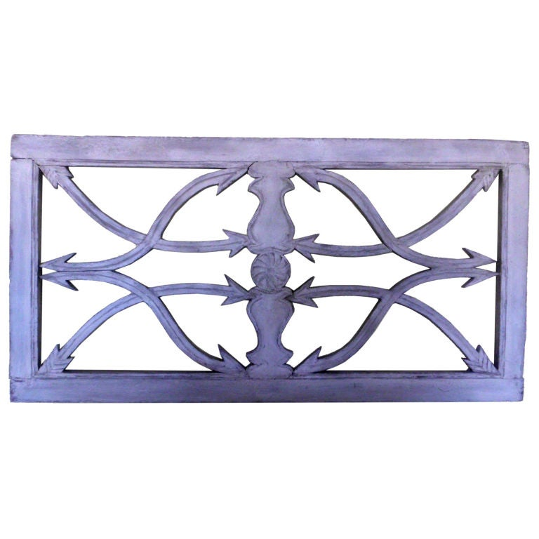Architectural Carved Wood Wall Hanging at 1stdibs