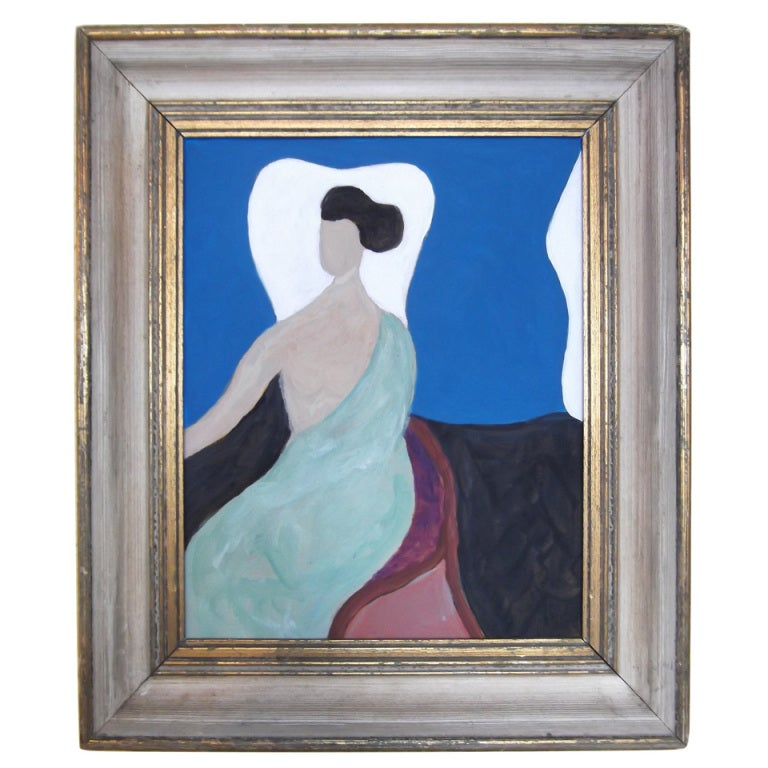 Beautiful painting of a women at 1stdibs