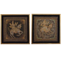 Pair of antique textiles
