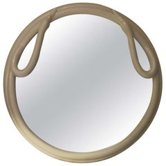 One Of A Kind Round Swan Mirror