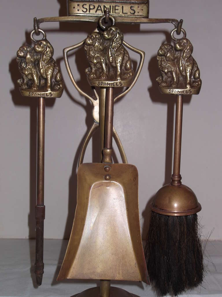 antique brass fireplace tools at 1stdibs