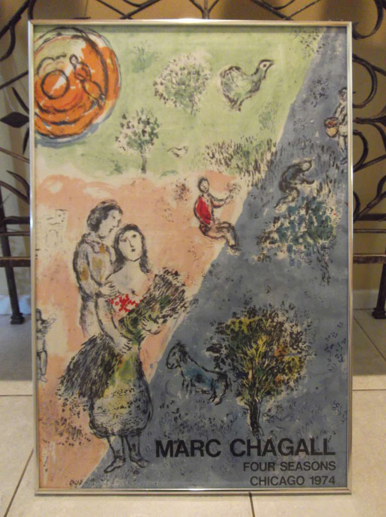 Marc chagall poster for sale at 1stdibs for Chagall mural chicago