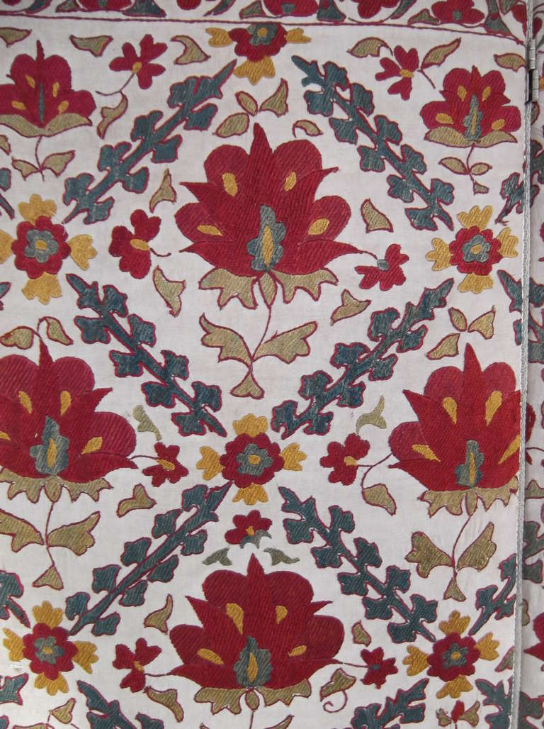 Hand Embroidery Suzani Textile Screen For Sale 1