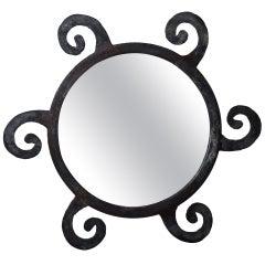 Artistic Iron Sun Mirror