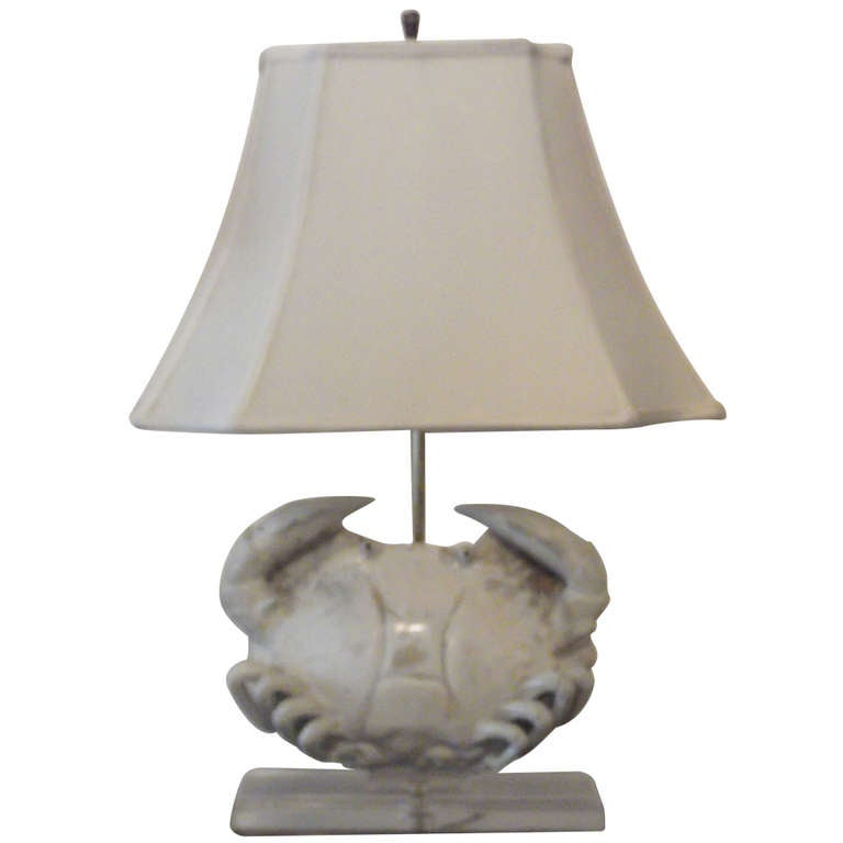 Ceramic Crab Table Lamp At 1stdibs