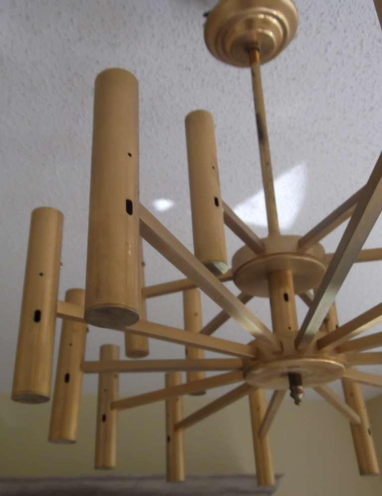 Brass Modern chandelier For Sale