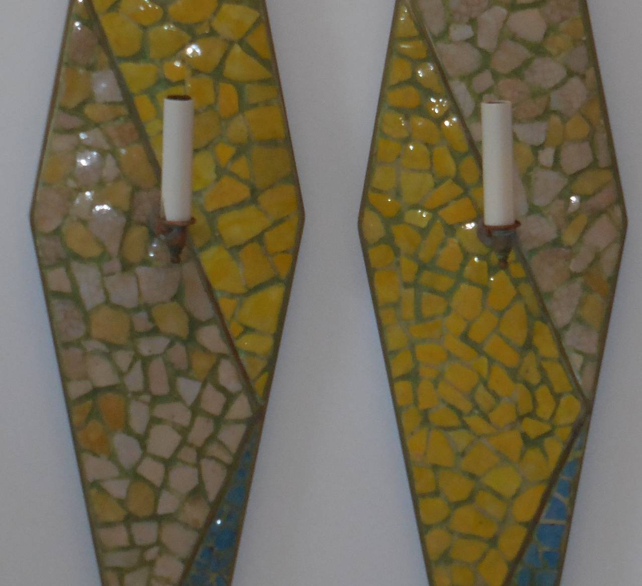 Funky Pair of Wall Sconces For Sale at 1stdibs