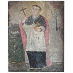 Antique Religious Oil Painting