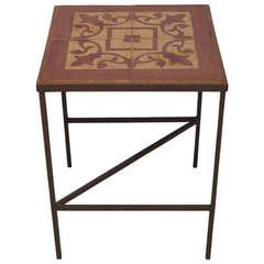 Iron Tile Table