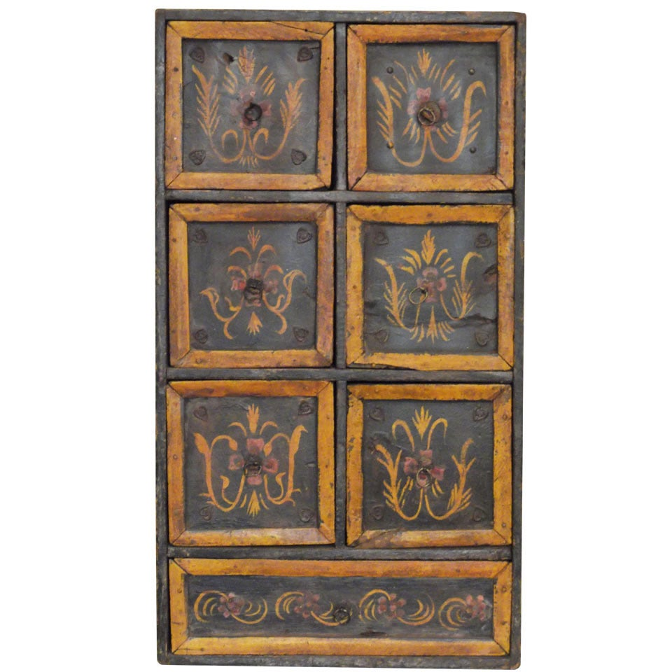 Antique Hand-Painted Indian Chest