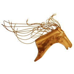Curtis Jere Brass Horse Head