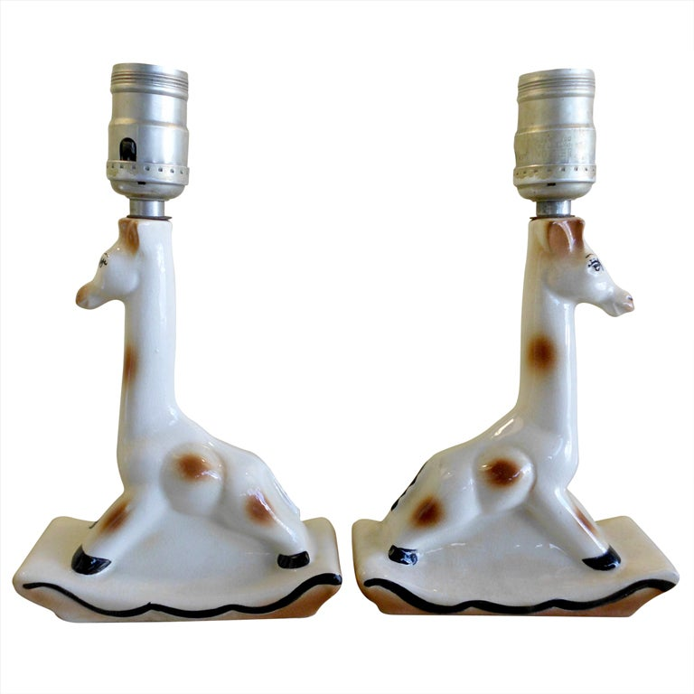 Pair Of Miniature Giraffe Table Lamps at 1stdibs