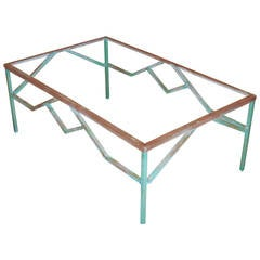 Architural Brass Coffee Table